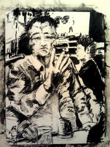 Mr B charcoal sketch