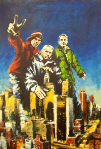 robert reeves - beastie boys take manhattan - acrylic on linen - 102812-100