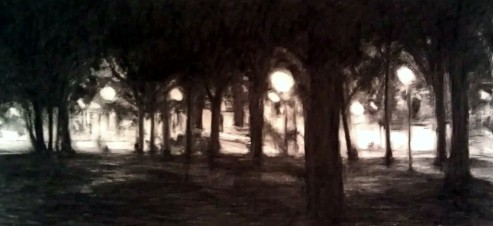 Cathedrals - Robert Reeves - charcoal on paper - 2011