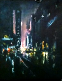 Robert Reeves, Gotham 3, oil on linen, 16x24, 2016