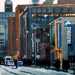 Robert Reeves, Locust in Gray 2, Acrylic on panel, 48x48, 2013