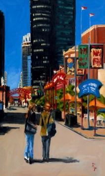 Robert Reeves, Navy Pier, oil on linen, 30x60, 2008