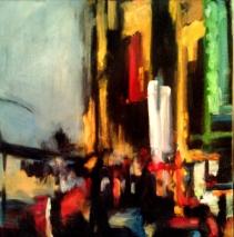 """Gotham II - acrylic on linen - 20"""" x 20"""" - 2011"""