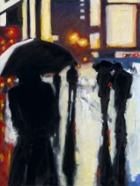 "Shadows in the Rain, oil on linen, 36"" x 48"" - 2009"