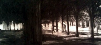 """Absentia - charcoal on paper - 36"""" x 72"""" - 2011"""