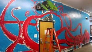 Full wall progress.  Coming along nicely.