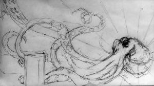 Initial ballpoint pen doodle