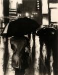 Rain Slick, charcoal on paper, 18x24, 2011