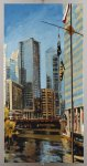 Robert Reeves, Chicago River1,36x72,oil on linen, 2011