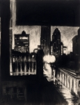 "Robert Reeves - Gotham 2, charcoal on paper, 18""x24, 2010"