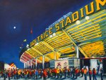 Robert Reeves, Jack Trice Stadium-ISU, 30x40,oil on linen-2013