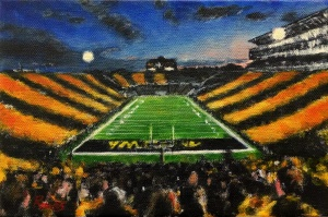 robert reeves, kinnick stadium (oswald), acrylic on linen, 2014