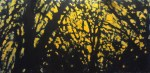 Robert Reeves, Looking Through the Branches Dreaming of Spring, acrylic on masonite, 36x72, 2012