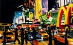 "Robert Reeves - NYC Times Square II - The Temple of M, oil on canvas, 36""x48"", 2007"