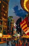 "Robert Reeves - NYC Times Square (Madame McSubway), oil on canvas, 24""x36"", 2008"