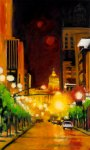 robert reeves, The Streets Run with Crimson and Gold, oil on linen, 36x60, 2010