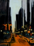 Robert Reeves - Twilight in Chicago - Giclee - up to 20x 26, 2008