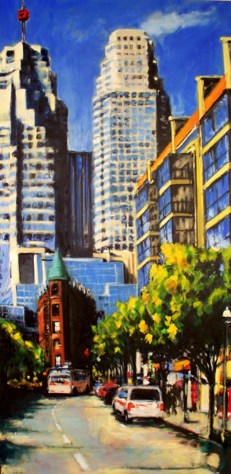 Robert Reeves, Untitled Toronto 1 36x72, oil on linen, 2010