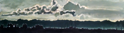 Robert Reeves, Wind Power, Oil on canvas, 72x24, 2014