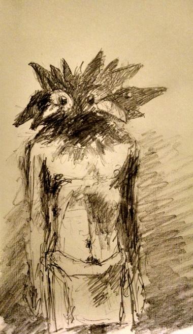 Robert Reeves, One Man Murder, graphite on paper, 2014
