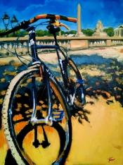 "Robert Reeves, Surly Bastard in Paris, oil on linen, 48"" x 36"", 2015"