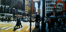 """Robert Reeves, Untitled Chicago #12, Oil on panel, 24"""" x 48"""", 2015"""